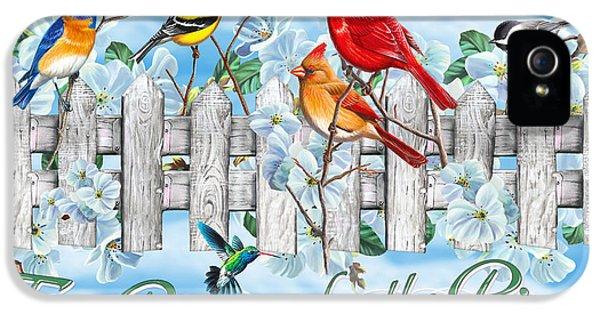 Bluebird iPhone 5 Case - Songbirds Fence by JQ Licensing