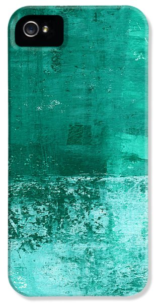 Soothing Sea - Abstract Painting IPhone 5 Case by Linda Woods