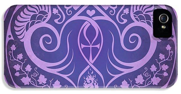 Soul Mates - Purple IPhone 5 Case by Cristina McAllister