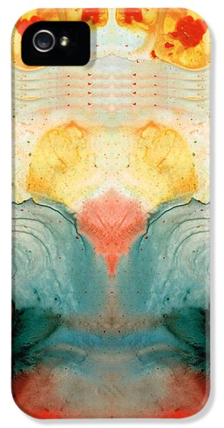 Soul Star - Abstract Art By Sharon Cummings IPhone 5 Case by Sharon Cummings