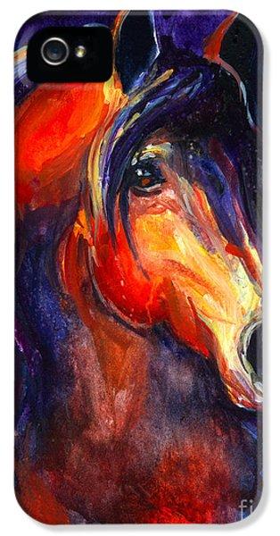 Soulful Horse Painting IPhone 5 Case by Svetlana Novikova