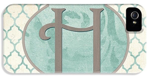 Spa Monogram IPhone 5 Case by Debbie DeWitt