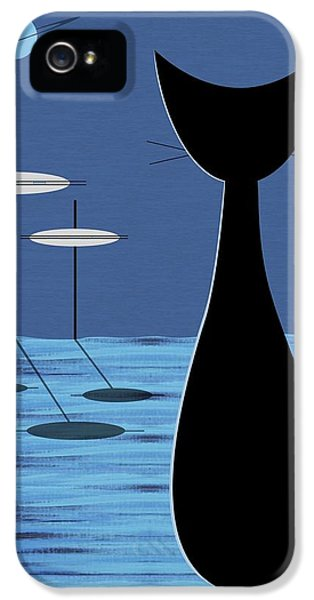 Space Cat In Blue IPhone 5 / 5s Case by Donna Mibus