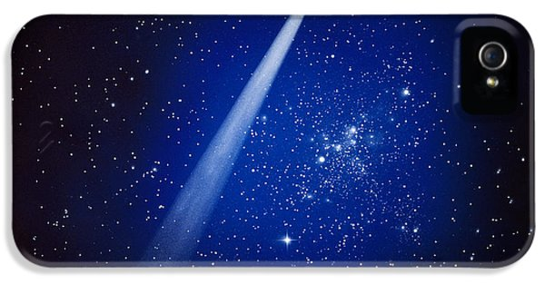 Space, Comet And Stars IPhone 5 Case by Panoramic Images
