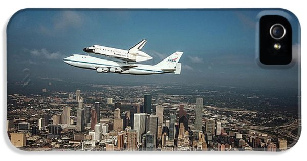 Space Shuttle Endeavour Piggyback Flight IPhone 5 Case by Nasa/sheri Locke
