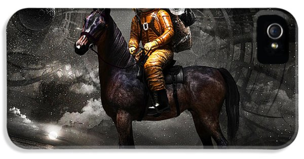 Horse iPhone 5 Case - Space Tourist by Vitaliy Gladkiy