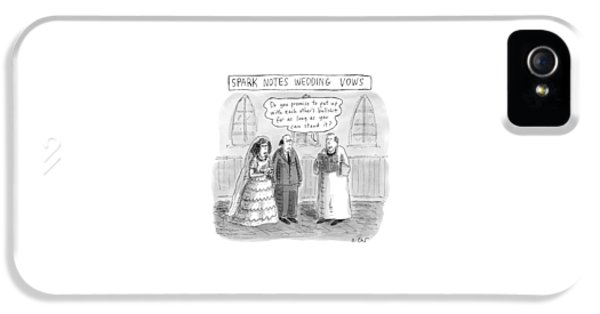 Spark Notes Marriage Vows -- A Minister Says IPhone 5 Case by Roz Chast