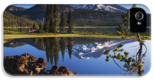 Sparks Lake Sunrise IPhone 5 Case by Mark Kiver