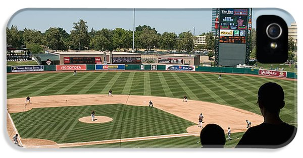 Spectator Watching A Baseball Match IPhone 5 Case by Panoramic Images
