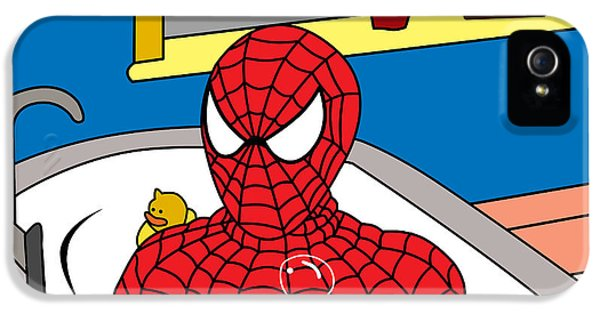 Spiderman  IPhone 5 Case by Mark Ashkenazi