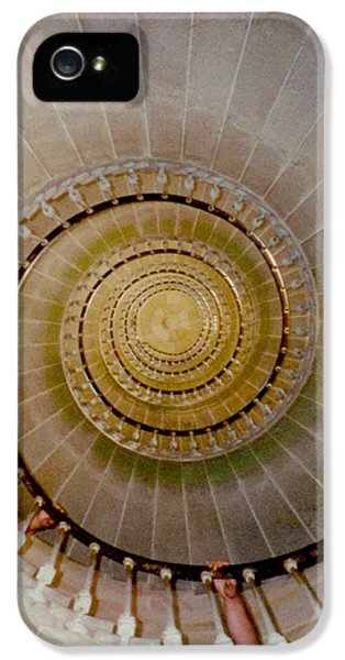 Spirale Du Phare Des Baleines Version Carree IPhone 5 Case