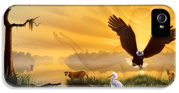 Eagle iPhone 5 Case - Spirit Of The Everglades by Jerry LoFaro