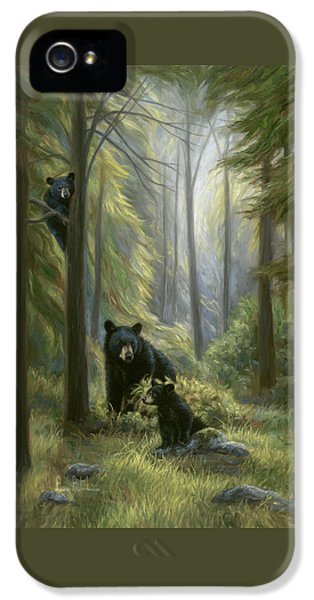 Bear iPhone 5 Case - Spirits Of The Forest by Lucie Bilodeau