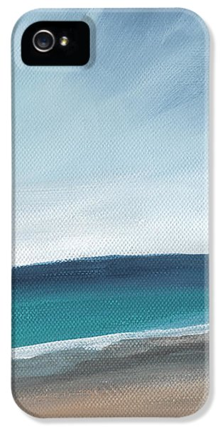 Spring Beach- Contemporary Abstract Landscape IPhone 5 Case by Linda Woods