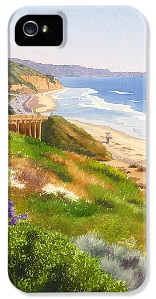 Pacific Ocean iPhone 5 Case - Spring View Of Torrey Pines by Mary Helmreich