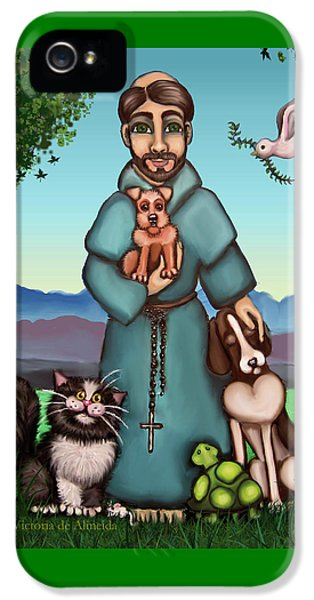 St. Francis Libertys Blessing IPhone 5 Case by Victoria De Almeida