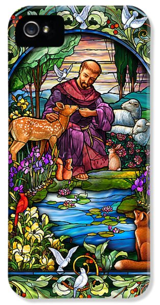 Rabbit iPhone 5 Case - St. Francis Of Assisi by Randy Wollenmann