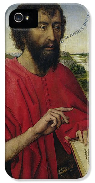 St John The Baptist, Left Hand Panel Of The Triptych Of The Braque Family IPhone 5 Case