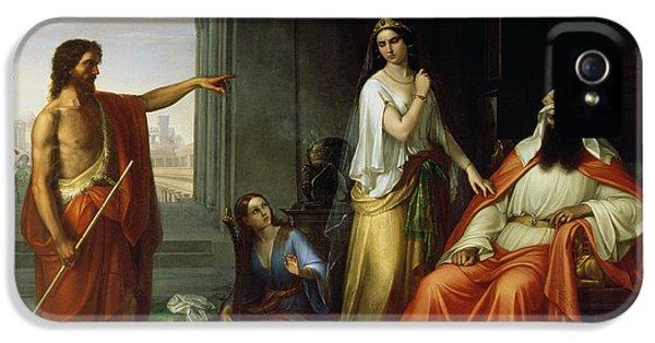 St. John The Baptist Rebuking Herod IPhone 5 Case by Giovanni Fattori
