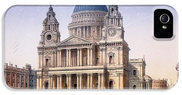 Wren iPhone 5 Case - St Pauls Cathedral by Achille-Louis Martinet