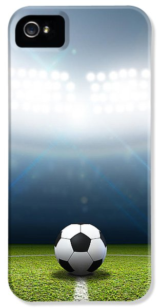 Stadium And Soccer Ball IPhone 5 Case by Allan Swart