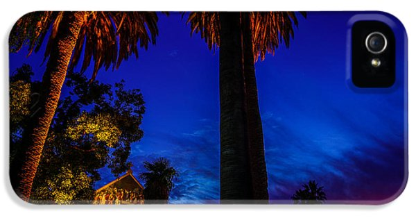 Stanford University Memorial Church At Sunset IPhone 5 Case by Scott McGuire