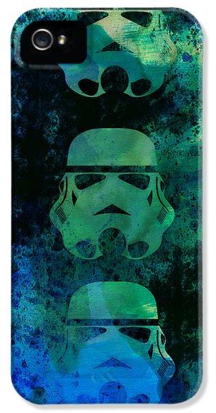 Star Warriors Watercolor 1 IPhone 5 Case by Naxart Studio