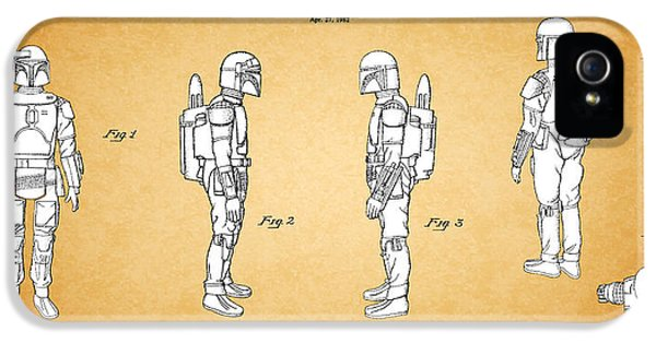 Star Wars - Boba Fett Patent IPhone 5 Case by Mark Rogan