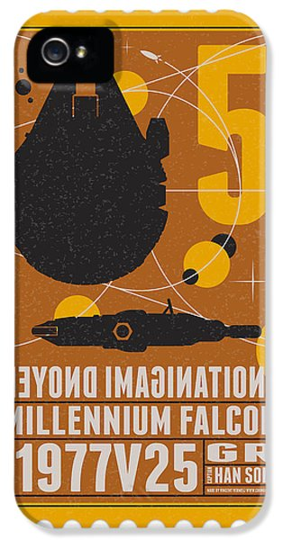 Science Fiction iPhone 5 Case - Starschips 05-poststamp -star Wars by Chungkong Art