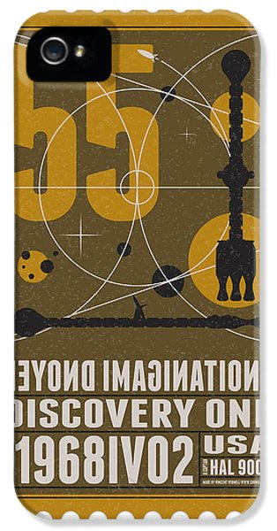 Science Fiction iPhone 5 Case - Starschips 55-poststamp -discovery One by Chungkong Art