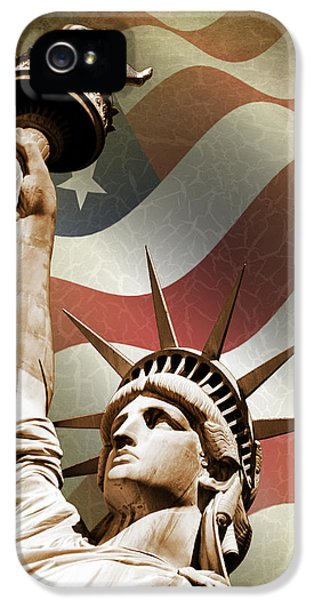 Statue Of Liberty IPhone 5 Case by Mark Rogan