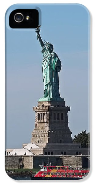Statue Of Liberty IPhone 5 Case by Rona Black