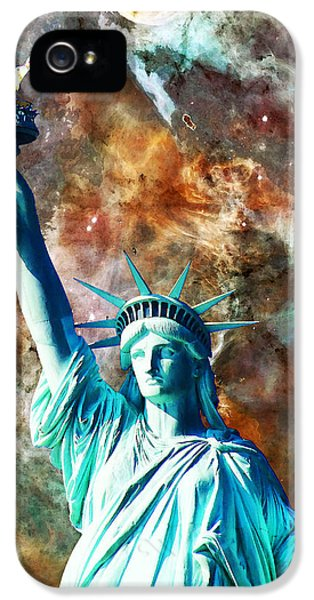 Statue Of Liberty - She Stands IPhone 5 Case by Sharon Cummings
