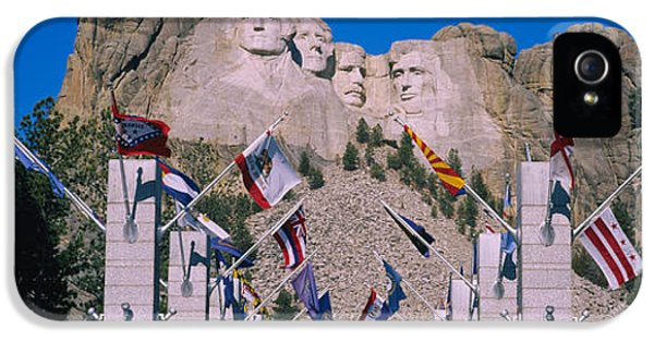 Statues On A Mountain, Mt Rushmore, Mt IPhone 5 Case by Panoramic Images