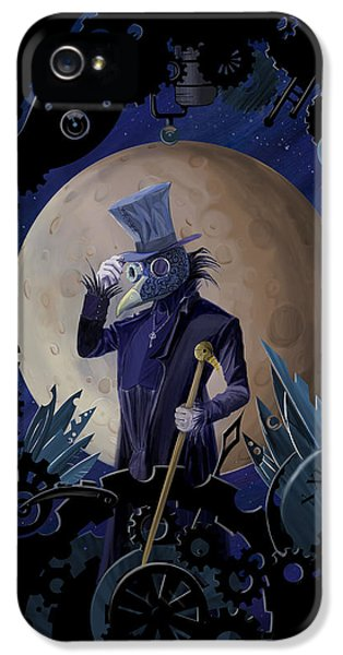 Raven iPhone 5 Case - Steampunk Crownman by Sassan Filsoof