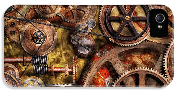 Steampunk - Gears - Inner Workings IPhone 5 Case by Mike Savad