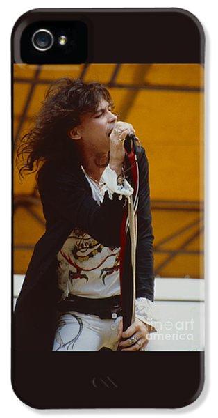 Steven Tyler iPhone 5 Case - Steven Tyler Of Aerosmith At Monsters Of Rock In Oakland Ca by Daniel Larsen