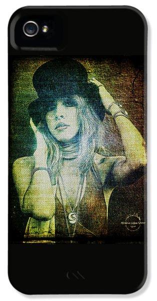 Rock And Roll iPhone 5 Case - Stevie Nicks - Bohemian by Absinthe Art By Michelle LeAnn Scott