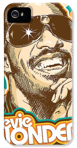 Rhythm And Blues iPhone 5 Case - Stevie Wonder Pop Art by Jim Zahniser