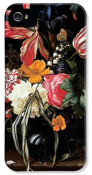Still Life Of Flowers, 1669 Oil On Canvas IPhone 5 Case by Maria van Oosterwyck