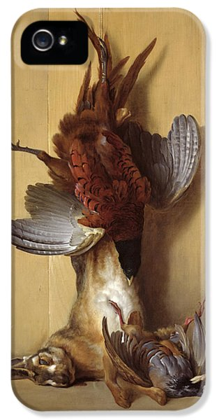 Still Life With A Hare, A Pheasant And A Red Partridge IPhone 5 Case by Jean-Baptiste Oudry