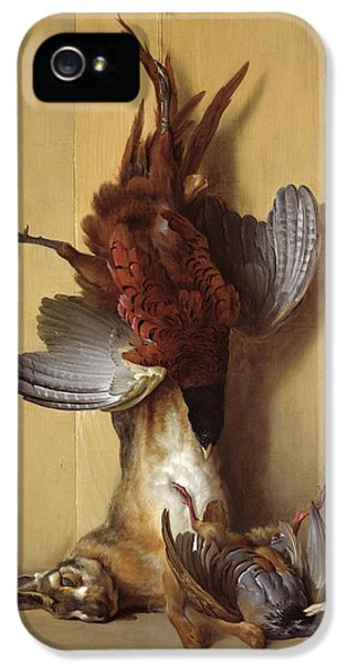 Still Life With A Hare, A Pheasant And A Red Partridge IPhone 5 / 5s Case by Jean-Baptiste Oudry