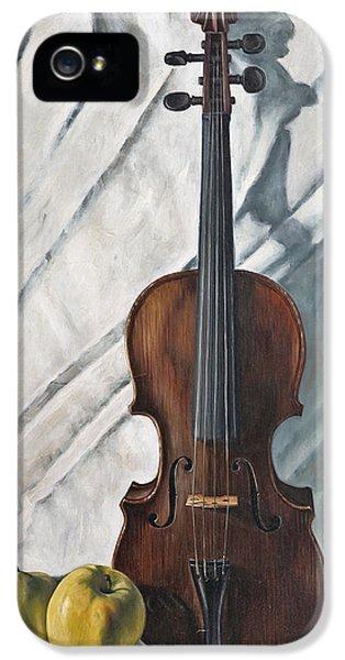 Violin iPhone 5 Case - Still Life With Violin by John Lautermilch