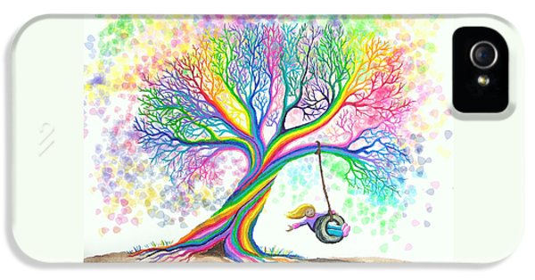 Still More Rainbow Tree Dreams IPhone 5 Case by Nick Gustafson
