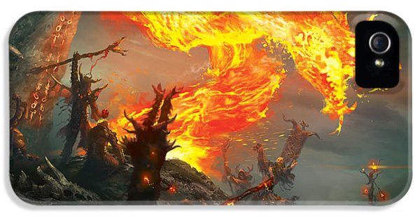 Wizard iPhone 5 Case - Stoke The Flames by Ryan Barger