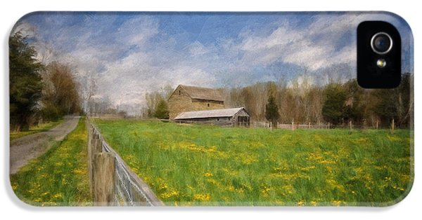 Stone Barn On A Spring Morning IPhone 5 Case by Lois Bryan