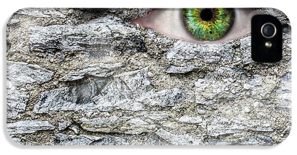 Stone Face IPhone 5 Case by Semmick Photo