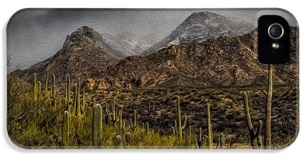 Storm Over Catalinas Aso IPhone 5 Case by Mark Myhaver