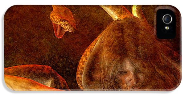 Gorgon iPhone 5 Case - Story Of Eve by Bob Orsillo