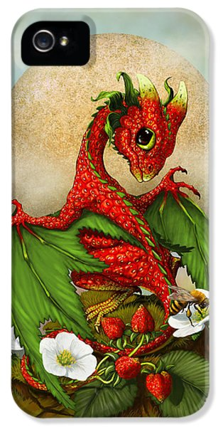 Dragon iPhone 5 Case - Strawberry Dragon by Stanley Morrison
